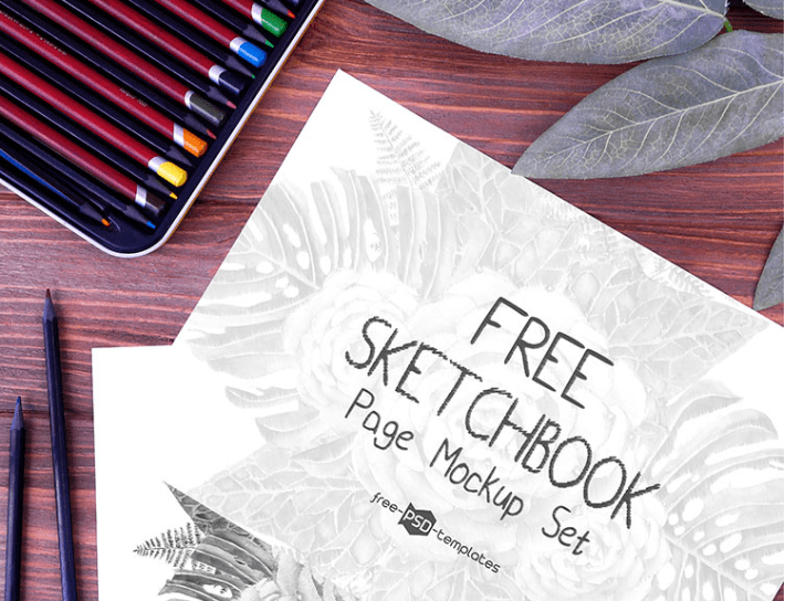 Photo-realistic Sketchbook PSD MockUp Template
