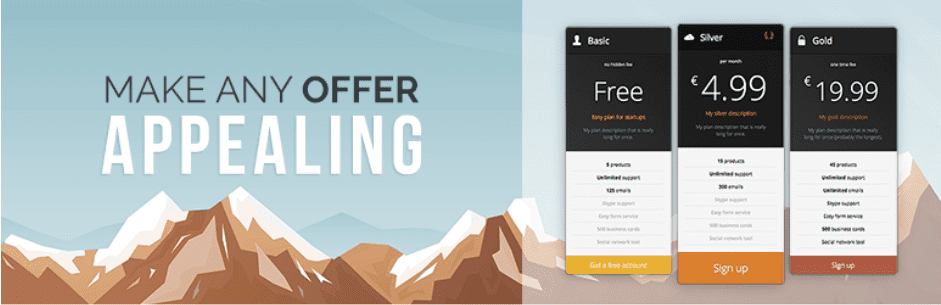 5 amazing WordPress pricing table plugin for creating pricing table