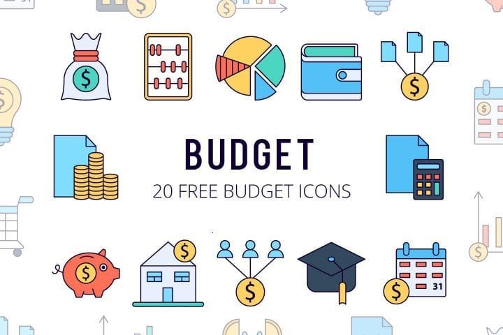 Set Of 20 high-quality Budget Free Icons