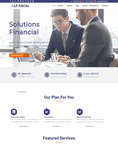 LT Fiscal Onepage – Free Single Page Joomla Finance template