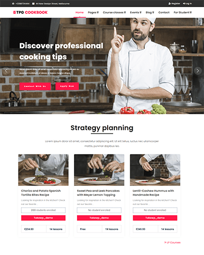 TPG CookBook – Responsive Kitchen WordPress theme