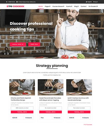 TPG CookBook – Responsive Kitchen WordPress theme
