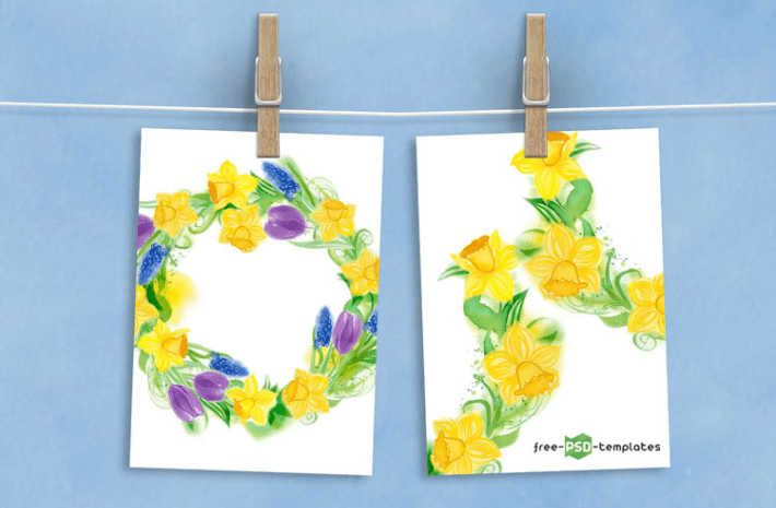 14 Hand-drawn Fresh Spring Watercolor Bundle