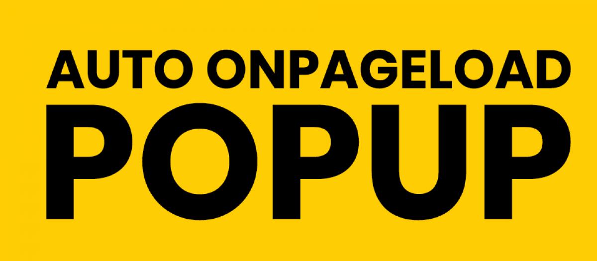 Auto onPageLoad Popup