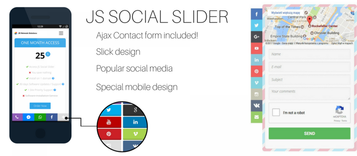 JS Social Slider