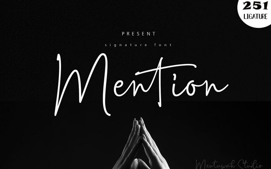 Mention Handwritten Signature Font