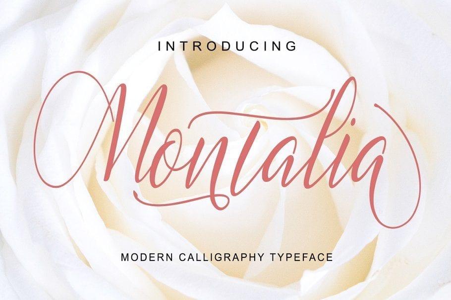 Montalia Modern Calligraphy Typeface