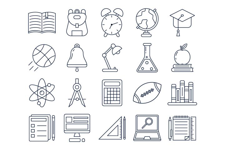 Set Of 20 Free Education Icons