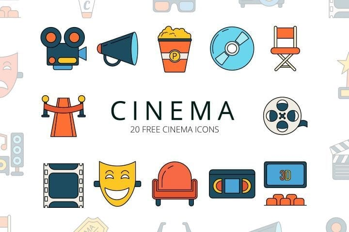 Set Of 20 High-quality Free Cinema Icons