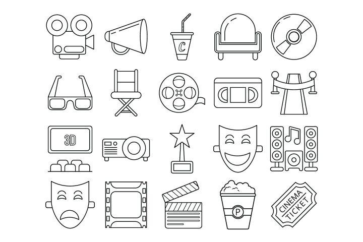 Set Of 20 High-quality Free Cinema Icons