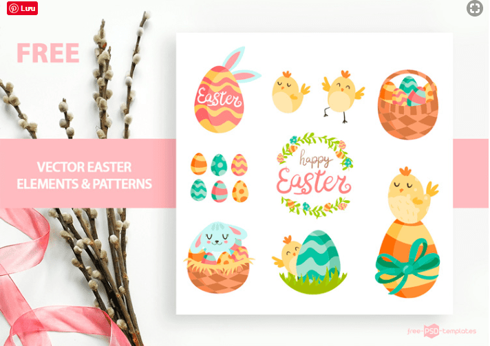 Set Of Free Easter Patterns & Elements