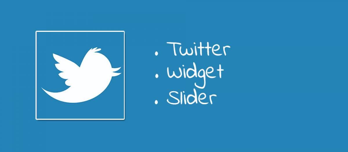 Twitter Widget Slider