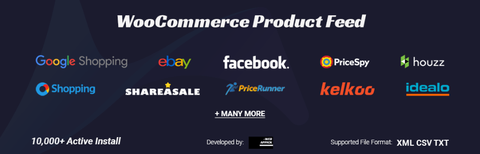 WooCommerce Product Feed for Google, Facebook, eBay and Many More