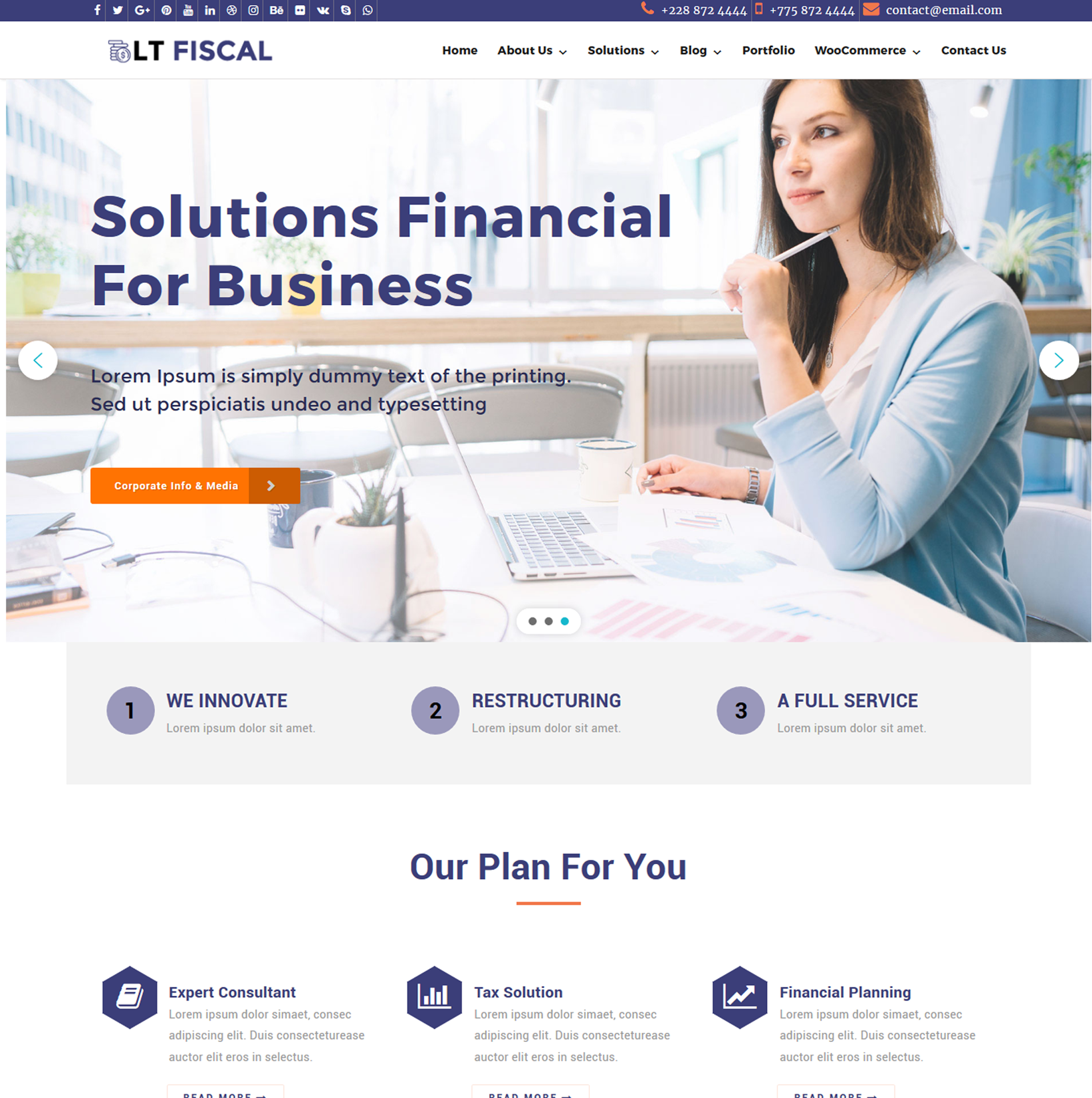 LT Fiscal – Finance WordPress theme