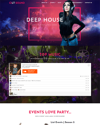 LT Sound – Music WordPress Theme Free