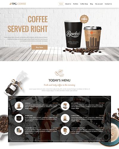 TPG Coffee – Responsive Beverage Website template