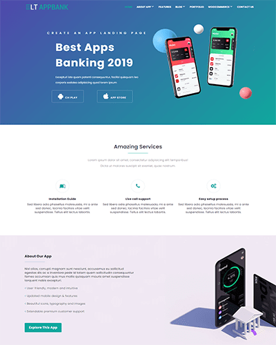 LT AppBank – Modern Design App WordPress theme