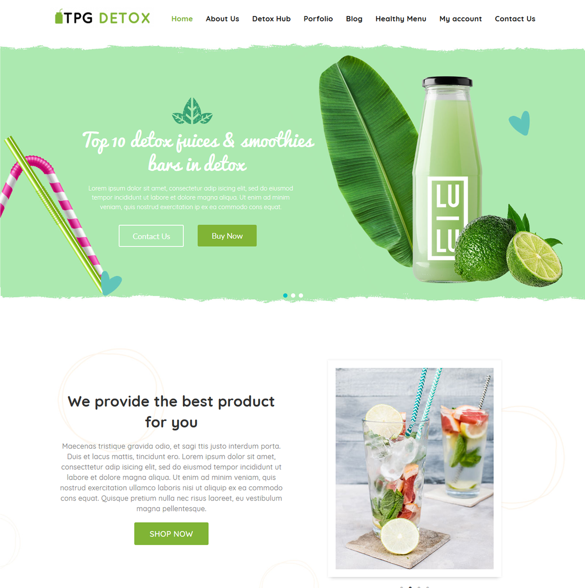 TPG Detox – Juice WordPress theme