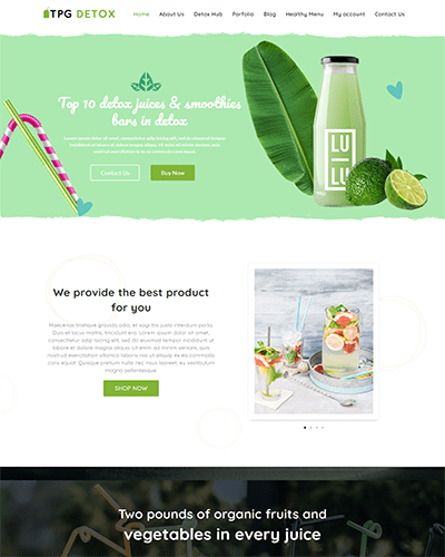 TPG Detox – Best Free Responsive Juice WordPress theme