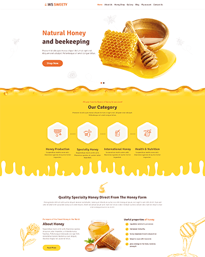 WS Sweety – Free Honey WordPress theme
