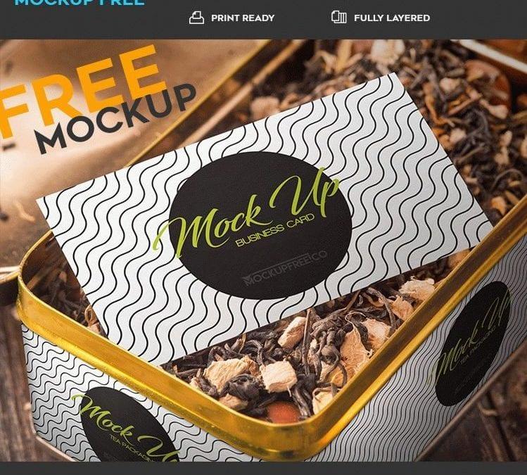 Free Tea Packaging PSD Mockup