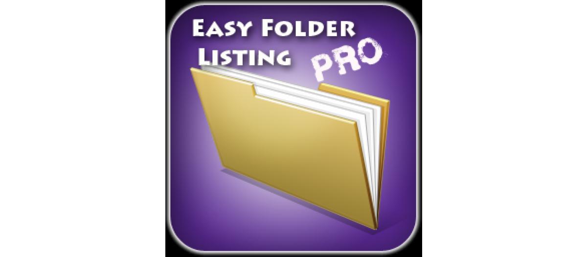 Easy Folder Listing Pro