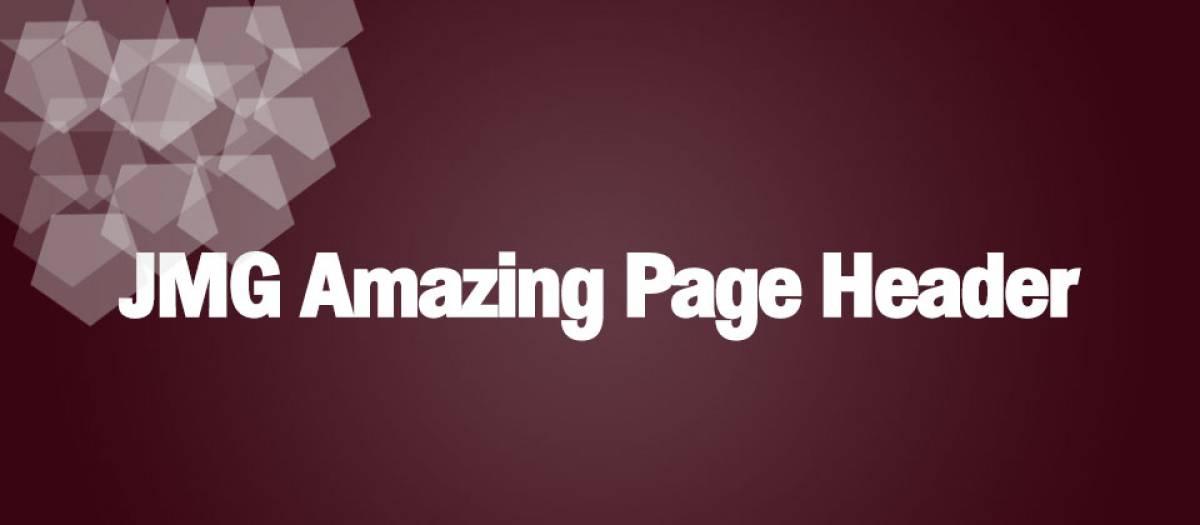 JMG Amazing Page Header