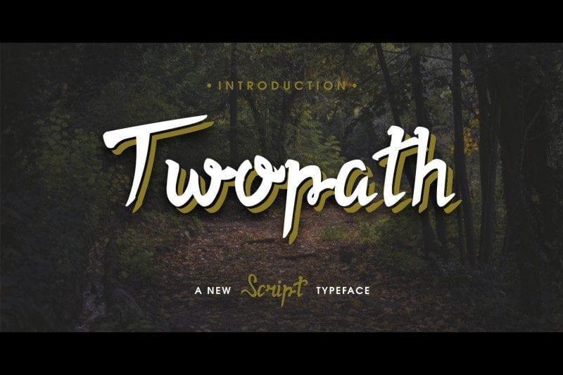 Free Twopath Script Font