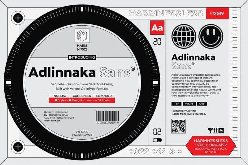 Adlinnaka Free Font Family