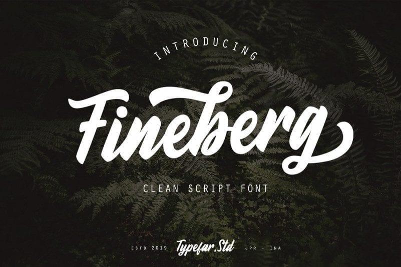 Free Fineberg Script Font