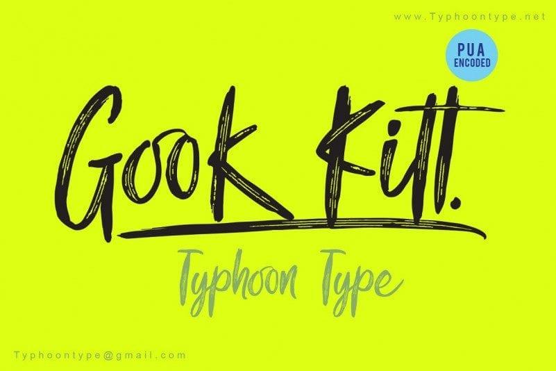 Free Gook Kitt Brush Font