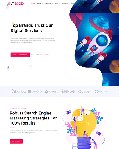 LT Digix – Free Responsive Digital Marketing website templates