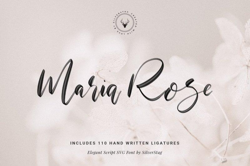 Free Maria Rose Script SVG Font