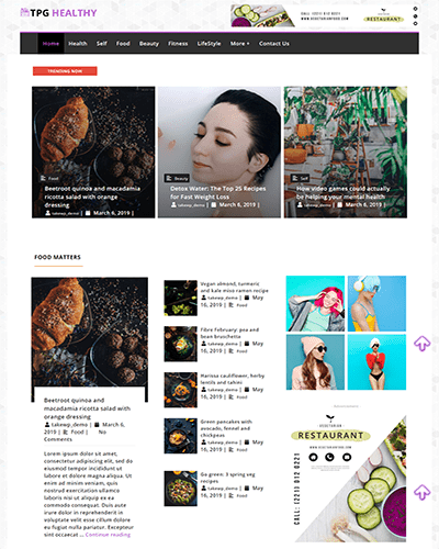 TPG Healthy – Best Free Flexible Magazine WordPress Theme
