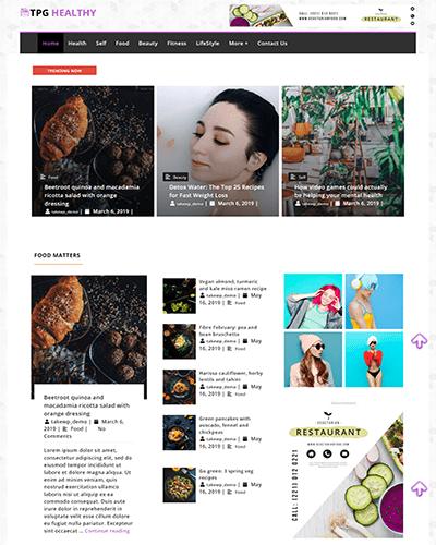 TPG Healthy – Best Free Flexible Magazine WordPress Theme