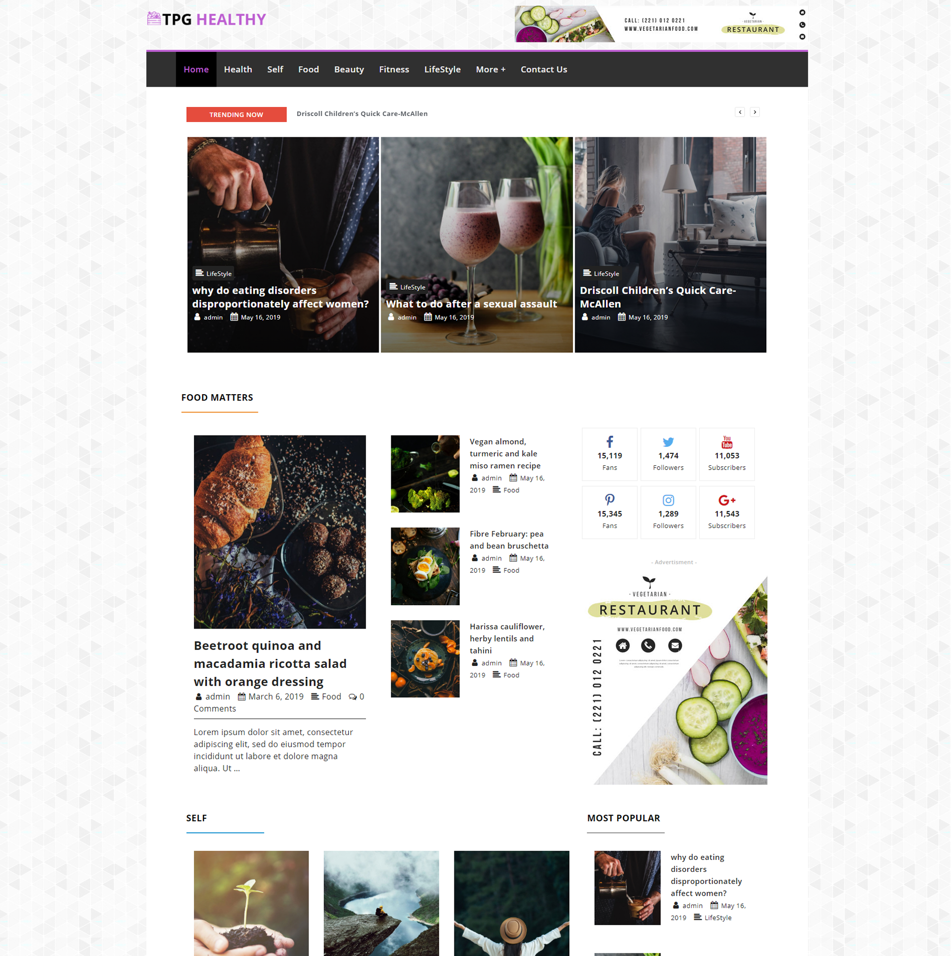 tpg-healthy-free-responsive-wordpress-theme-screenshot
