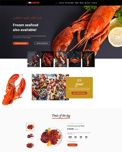 WS Lobster – Best Restaurant WordPress themes