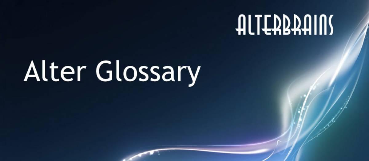 Alter Glossary