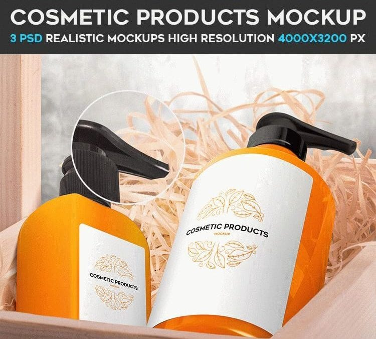 Free Cosmetic Products Mockup