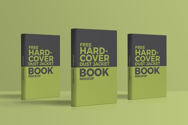 Free Dust Jacket Hardcover Book PDS Mockup