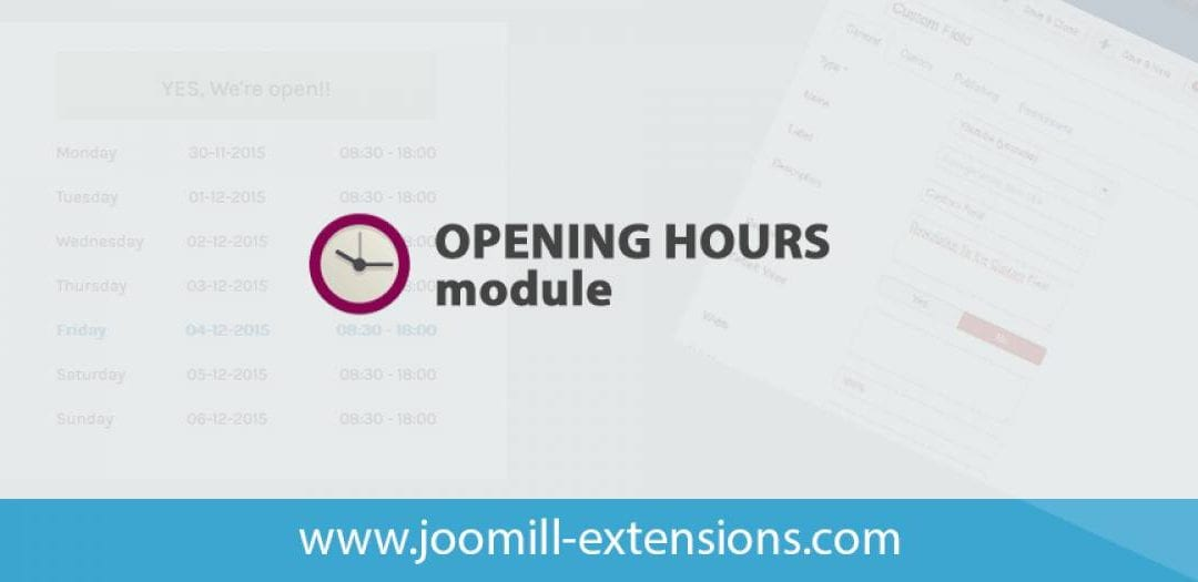 List Of Top 8 Joomla Opening Hour Extension In 2020
