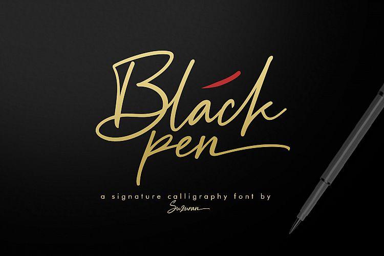 Classy Handwriting Black Pen Font Ltheme