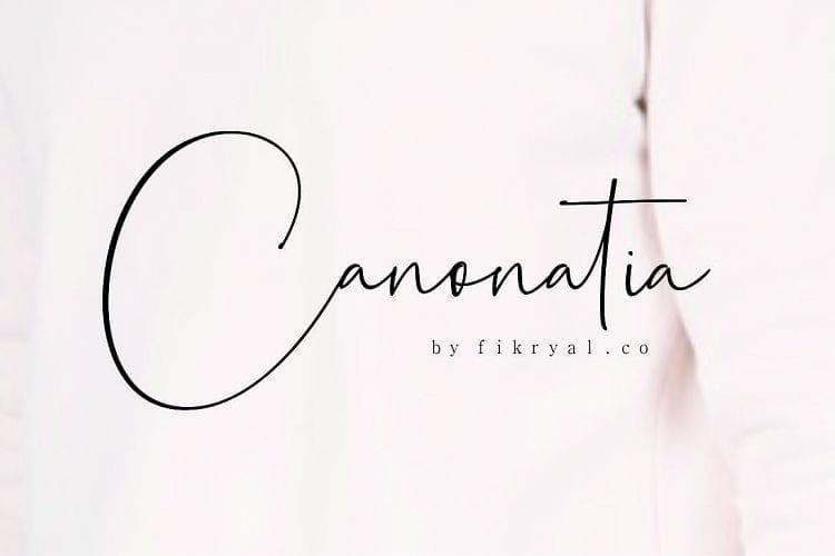 Canonatia Free Handwritten Font
