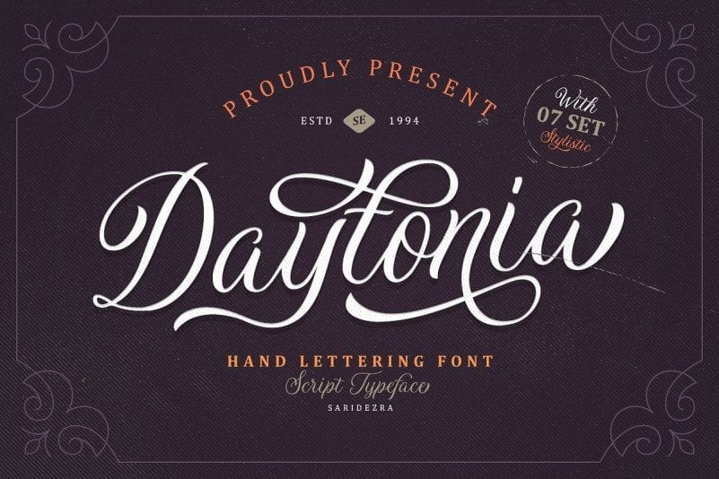 Free Hand Lettering Daytonia Script Font