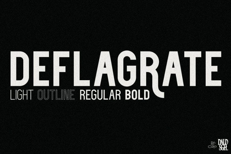 Free Deflagrate Font Family