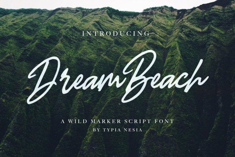 Free Dream Beach Script Font