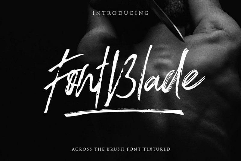 Free Classy FontBlade Brush Font