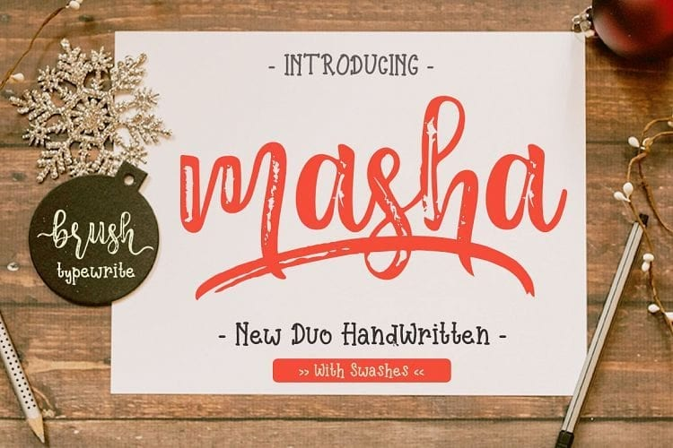 Free Masha Script Font