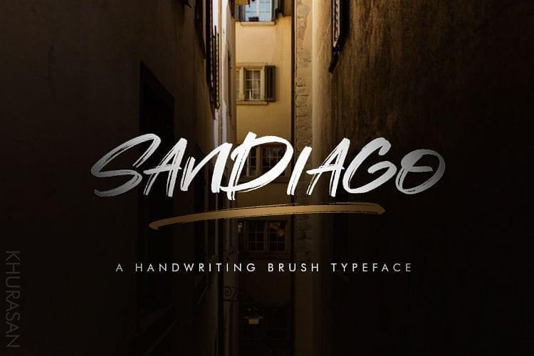 Free Sandiago Brush Font