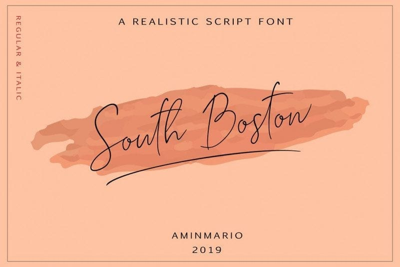 Realistic South Boston Free Script Font